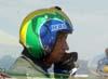 Novo líder do EDA, Tenente Coronel Aviador José Aguinaldo de Moura antes de sair do avião.