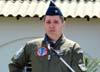Antigo líder do EDA, Tenente Coronel Aviador Alberto das Neves Neto durante o discurso de despedida do EDA.
