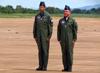Tenente Coronel Aviador Marcelo Gobett Cardoso, a esquerda, e Tenente Coronel Aviador Wagner de Almeida Esteves. (18/12/2012)