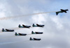 Tenente Coronel Aviador Wagner de Almeida Esteves voando em posição invertida para passar o comando do EDA para o Tenente Coronel Aviador Marcelo Gobett Cardoso. (18/12/2012)