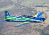 Embraer EMB-312 (T-27 Tucano), FAB 1435, da Esquadrilha da Fumaça. (18/09/2011)