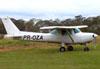 Cessna 152, PR-OZA, do Aeroclube de Campinas. (22/06/2013)
