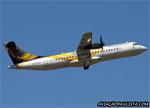 ATR 72-500 (ATR 72-212A), PR-PDH, da Passaredo, decolando no aeroporto de Ribeir�o Preto (SP). (28/10/2014)
