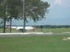 Gloster Meteor, primeiro caça a jato da Força Aérea Brasileira, exposto na Academia, em Pirassununga. (2006)