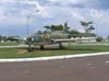 Caça Embraer EMB-326 GC, conhecido na FAB como AT-26 Xavante, exposto na Academia da Força Aérea, em Pirassununga. (2006)
