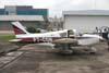 Piper PA-28-140 Cherokee, PT-CON, estacionado no Campo de Marte. (14/10/2006)