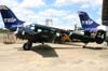 Beech E18, PT-DHI, aeronave número 4 da Esquadrilha OI. Aeroporto dos Amarais, Campinas. (21/10/2006)