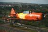 North American T-6D, PT-LDO, aeronave número 3 da Esquadrilha OI, sobrevoando Campinas. (21/10/2006)