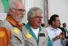 Da esquerda para a direita, Gustavo Albrecht, presidente da ABUL e piloto do T-6 número 3 da Esquadrilha OI, e Carlos Edo, piloto do T-6 número 1 da Esquadrilha OI. Museu Asas de Um Sonho. (11/11/2006)