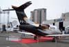 Primeira aparição em eventos do primeiro protótipo do Embraer Phenom 100, PP-XPH. Até a aparição na Labace, esta aeronave tinha apenas 15 horas de vôo. (11/08/2007)