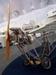 Detalhe do motor e da hélice de uma das 5 réplicas do Demoiselle, 2° avião de Santos Dumont, construídas pelo Instituto Arruda Botelho. (11/08/2007)