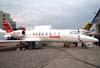 Bombardier Learjet 45XR, PR-OTA, da OceanAir Táxi Aéreo. (15/08/2008)