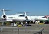 Gulfstream G450 (esquerda) e G550, da Gulfstream.