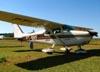 Cessna 172C Skyhawk, PT-BRF, do Aeroclube de Araras. (01/05/2010) Foto: Ricardo Rizzo Correia.