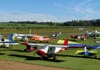 Aeronaves estacionadas no aeroporto de Leme. (30/04/2011) Foto: Ricardo Dagnone.
