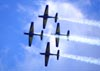 Embraer EMB-312 (T-27 Tucano) 1, 2, 3 e 4 da Esquadrilha da Fumaça. Foto: Eduardo Martins. (22/05/2011)