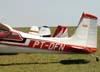 Caudas dos aviões Cessna 180H Skywagon 180, PT-DFN, Vans RV-7, PP-XRW, Cessna 140A, PT-ACZ e Cessna 140A, PP-DYT. Foto: Bruno Schmidt