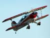 Steen Skybolt, PT-ZRM, durante a decolagem.