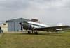 """O Douglas DC-3 """"Rose"""", N101KC, estacionado em frente ao hangar José Angelo Simioni, da Esquadrilha Oi, no Aeroporto Campo dos Amarais, em Campinas. (30/08/2007)"""