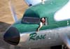 """Comandante Castellao com o braço esquerdo do lado de fora da janela da cabine de pilotagem do Douglas DC-3 """"Rose"""", N101KC, e Jorge Luís Stocco, gerente do Museu da TAM, na janela da aeronave, logo após a entrada no pátio em frente ao hangar ao lado da torre de controle, no aeroporto de São Carlos. (31/08/2007)"""