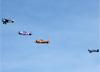 Aeronaves chegando ao evento. (14/06/2014)