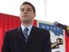 Evaristo Costa, mestre de cerimônia.