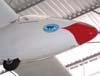 Adesivo do APP, Aeroclube Politécnico de Planadores de Jundiaí, colado no KW-1 Quero-quero.