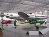 Em primeiro plano, Piper PA-12 Super Cruiser, fabricado em 1948 e, logo atrás, Lockheed L-049 Constellation com a pintura da Panair, ex-KLM, fabricado em 1946, expostos no Museu Asas de Um Sonho. (23/02/2007). Foto: Rodrigo Zanette