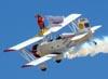 Marta e Pedrinho se apresentando no Grumman G-164A Showcat, PP-XDI.