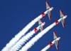 Os North American T-6 do Aeroshell Aerobatic Team. (26/07/2011) - Foto: Celia Passerani.