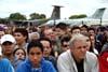 Mesmo com mal tempo, muitos paulistanos foram ao PAMA de São Paulo, no Campo de Marte, principalmente para assistir a apresentação da Esquadrilha da Fumaça.