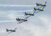 Os Embraer EMB-312 (T-27 Tucano) da Esquadrilha da Fumaça. (23/09/2012)