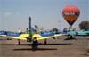 Aeronaves da Esquadrilha da Fumaça estacionadas no pátio. Foto: AFAC (02/09/2007)