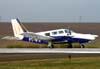 Piper PA-34-200 Seneca, PT-IFS, do Aeroclube de Piracicaba. Foto: Bruno Schmidt.