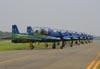 Embraer EMB-312 (T-27 Tucano) da Esquadrilha da Fumaça. (25/09/2010) Foto: Bruno Schmidt.