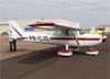 Cessna A150L, PR-CJS, do Aeroclube de Ribeirão Preto. (18/06/2017)