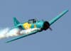 North American T-6D, PT-KRC, aeronave número 1 da Esquadrilha Oi, pilotada pelo Comandante Carlos Edo.