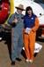 "Pedrinho Mello, piloto do Grumman G-164B ""Showcat"", PP-XDI, e a wingwalker Marta Bognar. Foto: Júnior JUMBO."