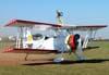 """Pedrinho Mello taxiando o Grumman G-164B """"Showcat"""", PP-XDI, depois da apresentação com a wingwalker Marta Bognar. Foto: Júnior JUMBO."""