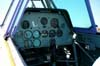 Painel do North American T-6D, PT-LDQ, aeronave número 2 da Esquadrilha Oi. Foto: Júnior JUMBO.