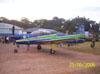 T-27 Tucano, número 1, da Esquadrilha da Fumaça. Aeronave extra que levou dois oficiais até Rio Claro para fazerem a apresentação do evento.