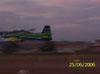 Decolagem do T-27 Tucano, número 1, da Esquadrilha da Fumaça. Aeronave extra que levou dois oficiais até Rio Claro para fazerem a apresentação do evento.