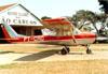 Cessna 150F, PT-CRG, do Aeroclube de São Carlos. (16/08/1980) Foto: Alberto Fortner.