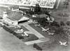 Foto aérea do antigo Aeroclube de São Carlos. (1975) Foto: Fundação Pró-Memória de São Carlos - Arquivo público e histórico - Via Rogério Castellao.