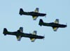 Embraer EMB-312 (T-27 Tucano) números 1, 2, 3 e 4 da Esquadrilha da Fumaça. (14/08/2011)