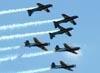 """Embraer EMB-312 (T-27 Tucano) números 1, 2, 3, 4, 5 e 6 fazendo a manobra """"Espelhão"""". (14/08/2011)"""