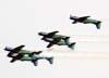 Os Embraer T-27 Tucano 1, comandado pelo Major Aviador Davi, 2, pilotado pelo Tenente Aviador Anderson Amaro, 3, pilotado pelo Tenente Aviador Baldin, 4, comandado pelo Tenente Aviador Felzcky, excepcionalmente com o número 7, 5, pilotado pelo Tenente Aviador Márcio, e 6, excepcionalmente com o número 1, comandado pelo Capitão Aviador Caldas, da Esquadrilha da Fumaça, fazendo uma passagem no dorso.