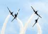Cruzamento dos Embraer T-27 Tucano 1 (comandado pelo Major Aviador Davi), 2 (pilotado pelo Tenente Aviador Anderson Amaro), 3 (pilotado pelo Tenente Aviador Baldin), e 4 (comandado pelo Tenente Aviador Felzcky), da Esquadrilha da Fumaça.