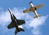 F/A-18F e Skyraider. (24/04/2009) Foto: Celia Passerani.