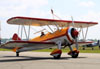 "Boeing IB75A Stearman, N450JW (Chamado ""Aurora""), do Jane Wicker Airshows. (27/03/2012) Foto: Celia Passerani."